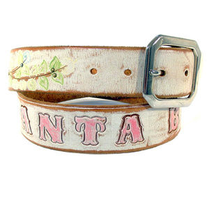 Accessories - SANTA BARBARA Hand Tooled/Painted Leather Belt